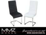 MMZ WONEN / modern italyan design sandalyeler - beyaz siyah deri kumasli demir bacakli