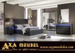 .AXA WOISS Meubelen / Mükemmel Bir Tasarım avantgarde parlak swarovski taşlı yatak odası