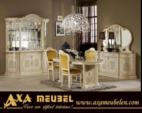 .AXA WOISS Meubelen / klasik bej renkli italyan tarzı yemek odası takımı
