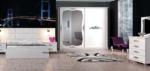 Erol Mobilya / Beyaz Papatya Sürgülü Yatak Odası Takımı