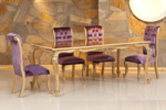.EUROELIT MÖBEL / Ebruli masa sandalye