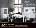 .AXA WOISS Meubelen / Modern ve şık tasarımlı avantgarde beyaz parlak yemek odası