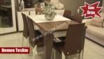 EVGÖR MOBİLYA / Ceviz Ekru Masa Takımı (Yemek Masası)