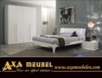 ****AXA WOISS Meubelen / Modern ve şık tasarımlı lake beyaz yatak odası takımı  58 1226
