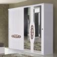 Özüçler Mobilya / Sürgülü Beyaz OMS 360 Gardırop