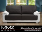 MMZ WONEN / modern kahverengi beyaz derili koltuk metal ayaki
