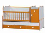 Cicila Bebe Genç Mobilyaları / BÜYÜYEN  ASANSÖRLÜ BEŞİK 70X130 TURUNCU