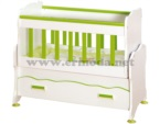 ERMODA Modüler Mobilya / Safir 50x85 mdf li beşik - Yeşil KARGO ÜCRETSİZ