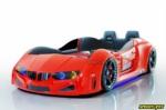 www.speedylifes.com / BMV Deri Döşemeli Kırmızı Arabalı Yatak - Kumandalı