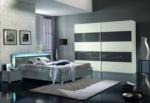 MMZ WONEN / Lux yatak odasi takimi - italyan design - surgulu dolap - led lambali - parlak beyaz gri