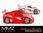 MMZ WONEN / Yaris arabasi yatagi - Turbo ferrari sport - Led isikli - kirmizi beyaz siyah