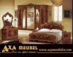 .AXA WOISS Meubelen / klasik parlak fındık rengi barok tarzı yatak odası takımı