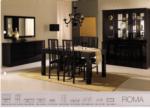 Royal Meubel & Bedden & Boxsprings / Roma siyah parlak  Oturma odasi takimi