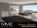 MMZ WONEN / Avantgarde yatak odasi takimi - aynali dressoir ve dolap - surgulu dolap - tasli matt beyaz