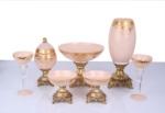 Alkapıda.com / Kibele 7 Parça Karmen Beyaz Altın  Masa Seti