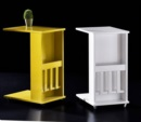 Özüçler Mobilya / Tekerlekli Yan Sehpa renk seçenekli (beyaz-sarı-ceviz)