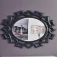 Özüçler Mobilya / Naz Dekoratif Duvar Aynası (beyaz-siyah)
