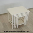 Vizyon Ahşap Aksesuar / Klasik zigon sehpa