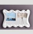 Özüçler Mobilya / Ezgi Dekoratif Duvar Aynası (renk seçenekli) beyaz-ekru