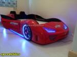 www.speedylifes.com / Kırmızı GT 999 Deri Döşemeli Araba Yatak