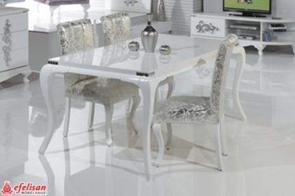 Sedef beyaz yemek odasi modeline ait detay sayfas for Wohndesign einrichtungs gmbh