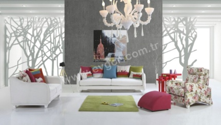M�kemmel Tasar�m Regno Salon Tak�m� Regno salon tak�m� ile hayallerinizi s�sleyin! Alternatif renk ve kuma� se�enekleri ile rahatl�k,konfor ve ��kl��� bir arada ya�ay�n.�r�n�n tak�m olarak (3+2+1+Puf) sat�n alabilece�iniz gibi tek tek de sat�n alabilirsiniz.